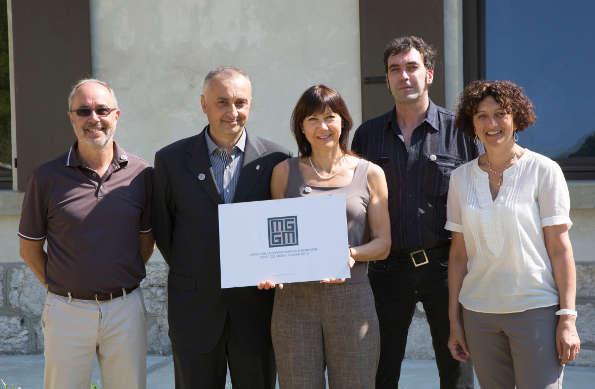 Il Sindaco Luigi Marcon con l'arch. F. Caputo e T. Pittia, L. Flora, M. Muner