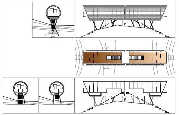 Studio C and C - belvedere in montagna, disegni tecnici